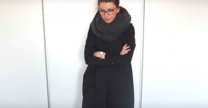 Теплое и уютное платье за один час (Diy)