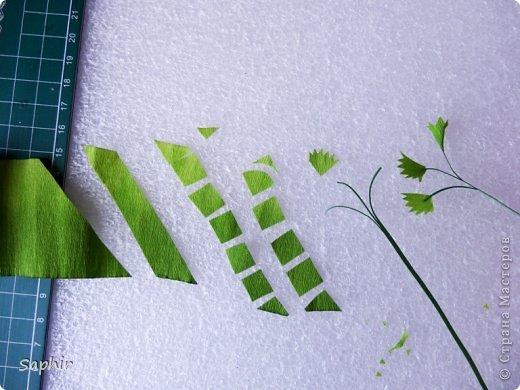 Мастер-класс Бумагопластика Маленькие цветочки из бумаги Кристал  Бумага гофрированная фото 3