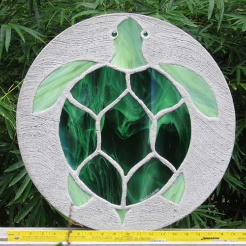 Great use for left over stained glass