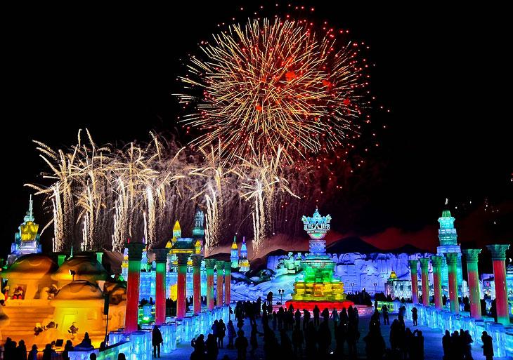 Международный фестиваль ледяных скульптур в Харбине