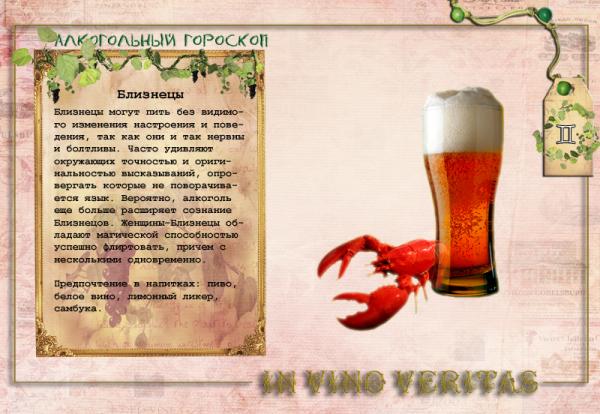 Алкогольный гороскоп.