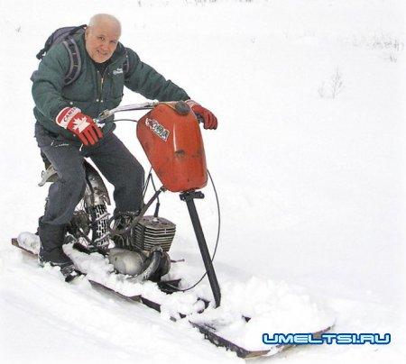Конструкция снегохода своими руками
