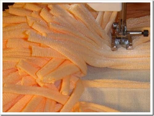Как сделать коврик из ткани своими руками