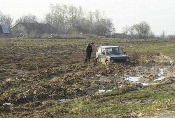 Русская техника - дороги почти не нужны!