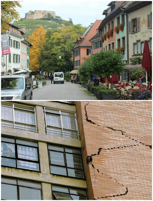 Город Штауфен-им-Брайсгау в Германии.