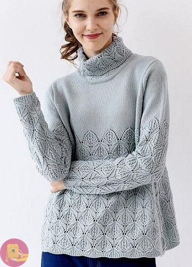 Узоры для пуловера и кардигана