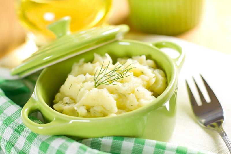 приготовление картофельного пюре с молоком