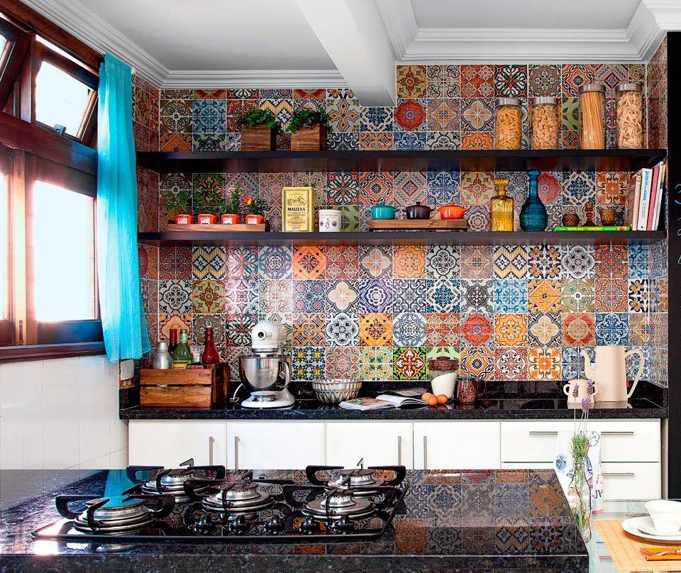 Пэчворк в интерьере кухни фото