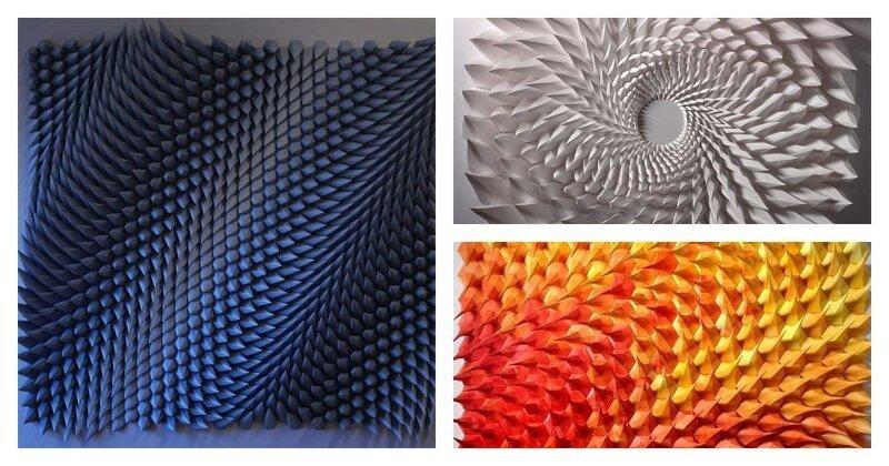 Инженер создает из бумаги геометрические картины и гифки, от которых глаза сходят с ума