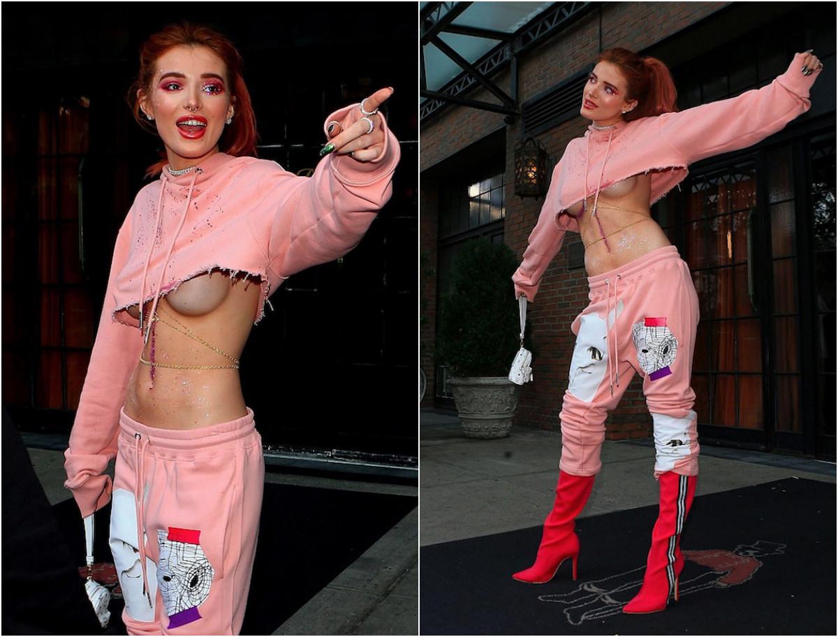 Звезда телеканала Disney показала обнажённую грудь в розовых блёстках