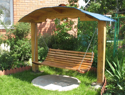 Садовые качели для дачи. Купить или сделать своими руками? фото
