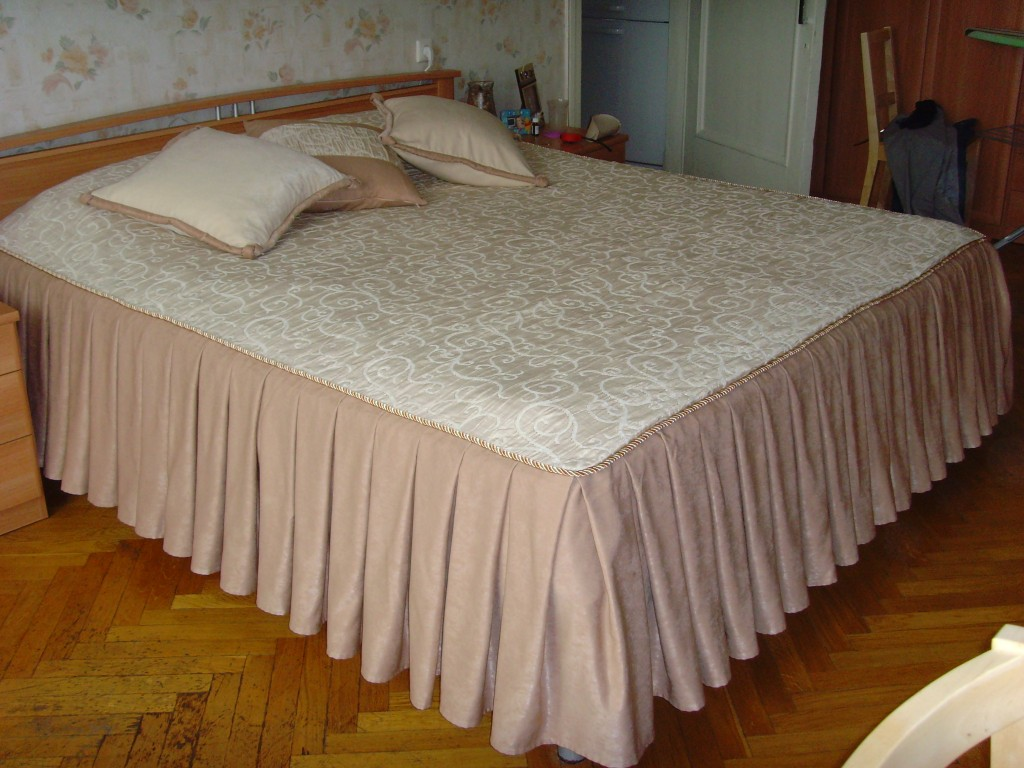Как пошить покрывало на кровать фото