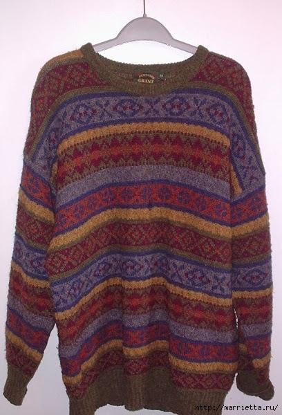 Cuna de gato de un viejo suéter.  Clase magistral (11) (408x600, 188KB)