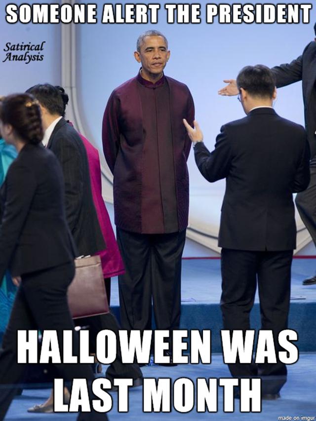 Обама не может побороть жвачный рефлекс