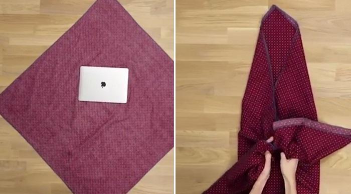как завязать платок или шарф на голове