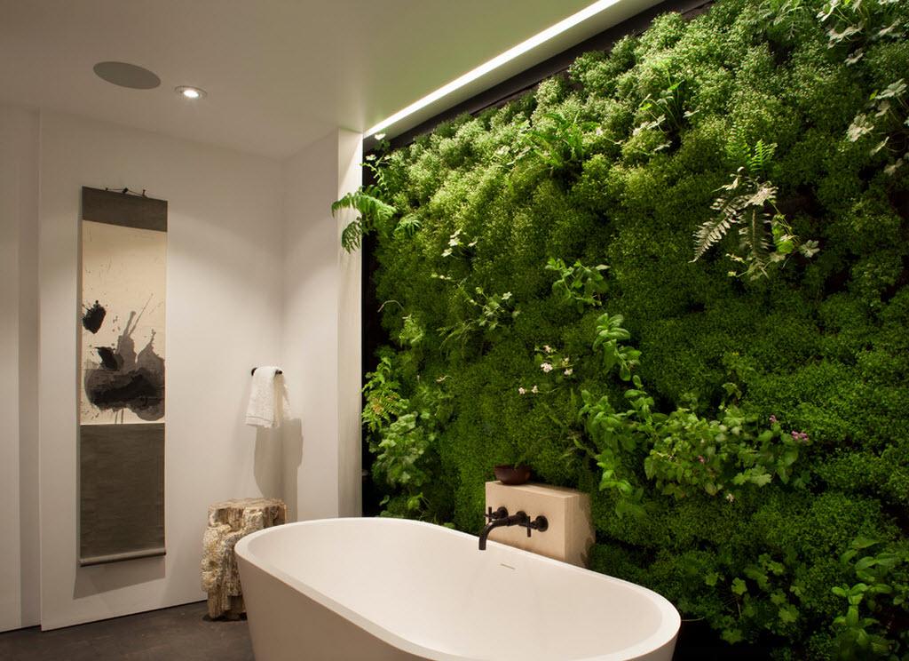 Как сделать зеленую стену в комнате