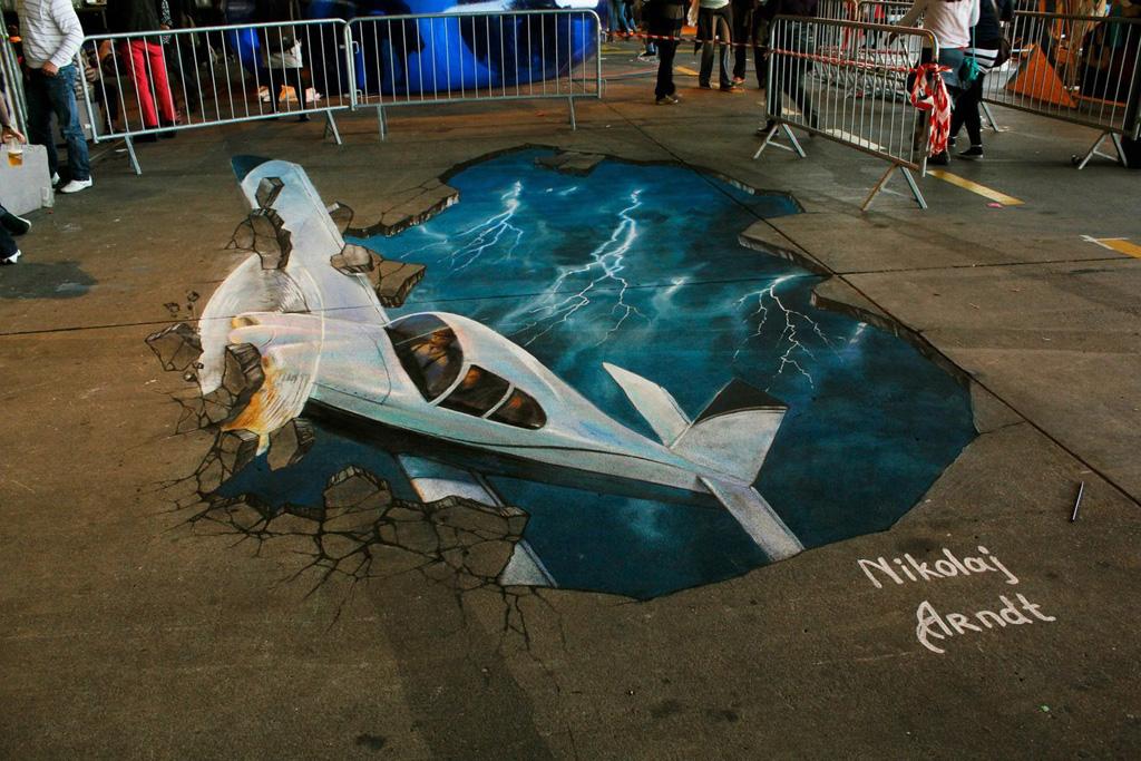 3d 4 Уличные 3D рисунки Николая Арндта