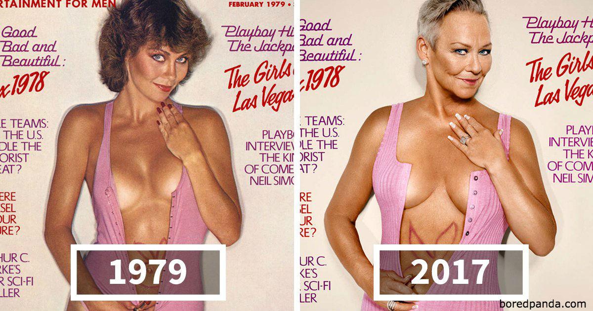 Playboy воссоздал 7 своих самых крутых обложек 30 лет спустя. Получился шедевр!