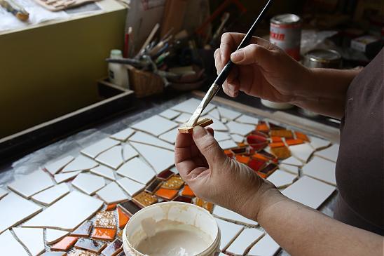 Очень понравилась идея для кухни - мозаика в интерьере
