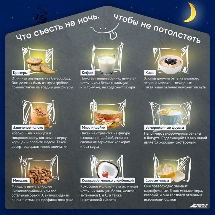 9 продуктов, которые можно съесть перед сном, не навредив фигуре
