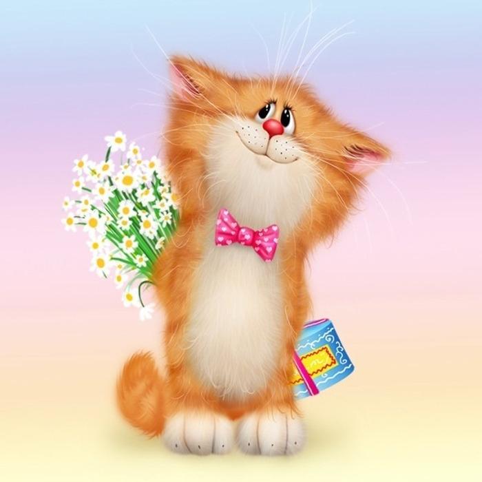 Симпатичные кошки (работы Алексея Долотова) [Часть 2]