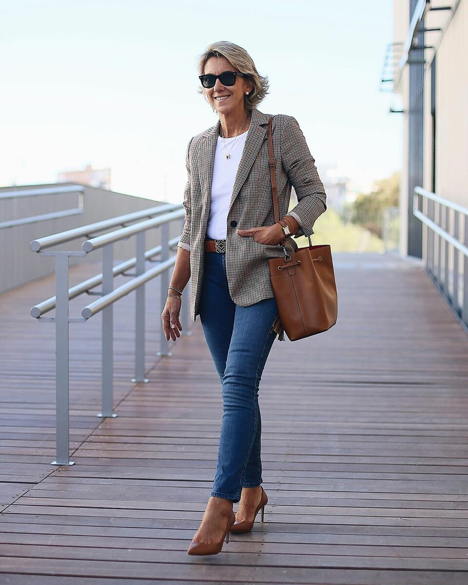 @margapau / С чем носить жакет взрослой даме? /Фото: instagram.com