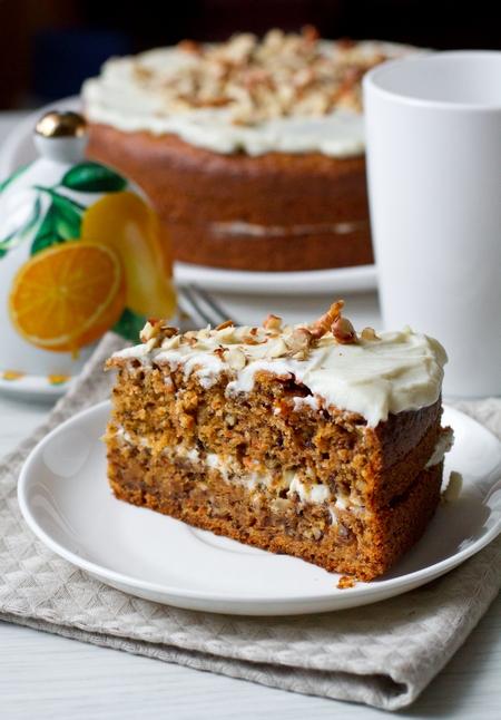 Торт с морковью и сливочным сыром. Не вредно даже на ночь!