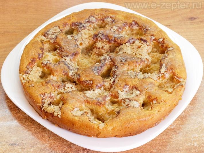Сахарный пирог - видео рецепт