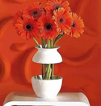 необычная ваза для цветов