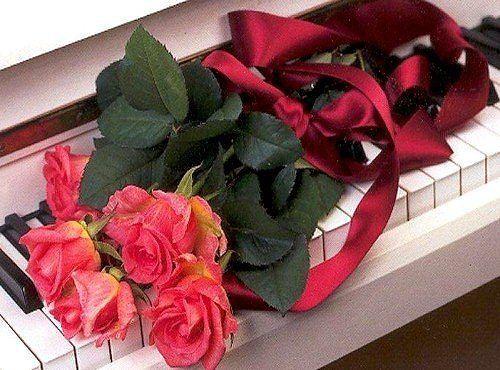 Фото благодарности с цветами