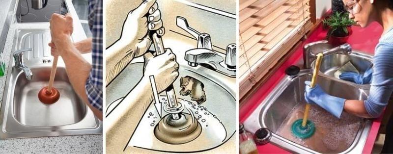 Чем прочистить засор в раковине в домашних условиях без вантуза