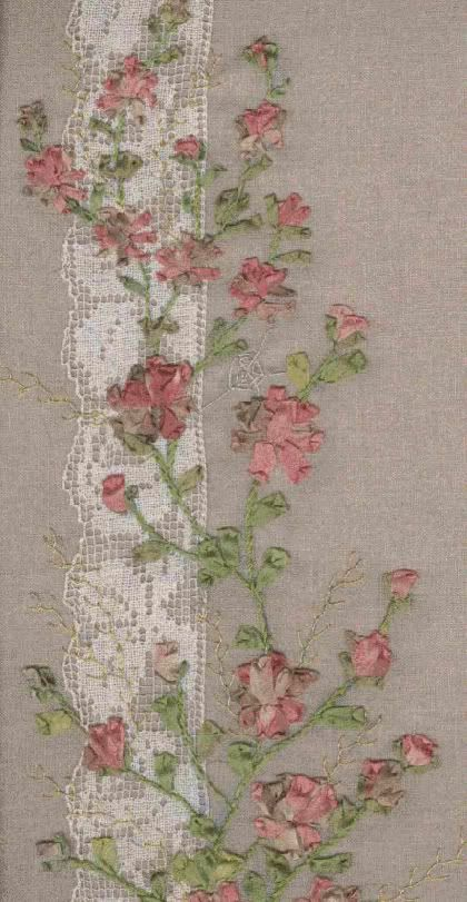 Ribbon embroidery ♠