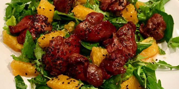 10рецептов вкуснейших салатов с куриной печенью