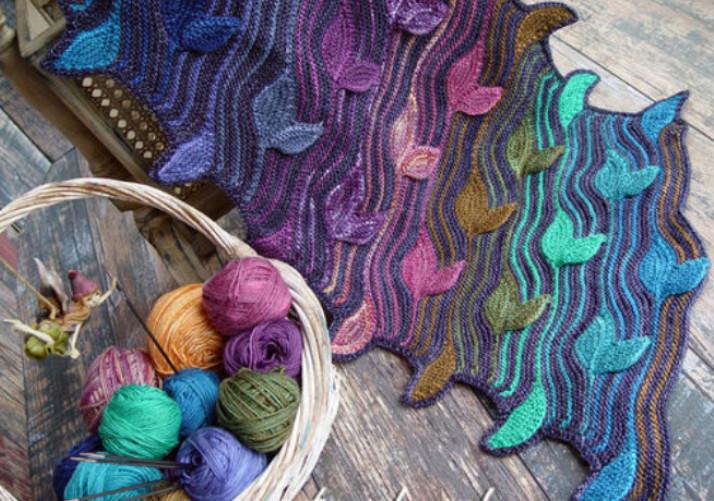 Изумительно красивые шарфы Светланы Гордон, связанные спицами