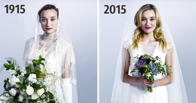 Как изменилась свадебная мода запоследние 100 лет