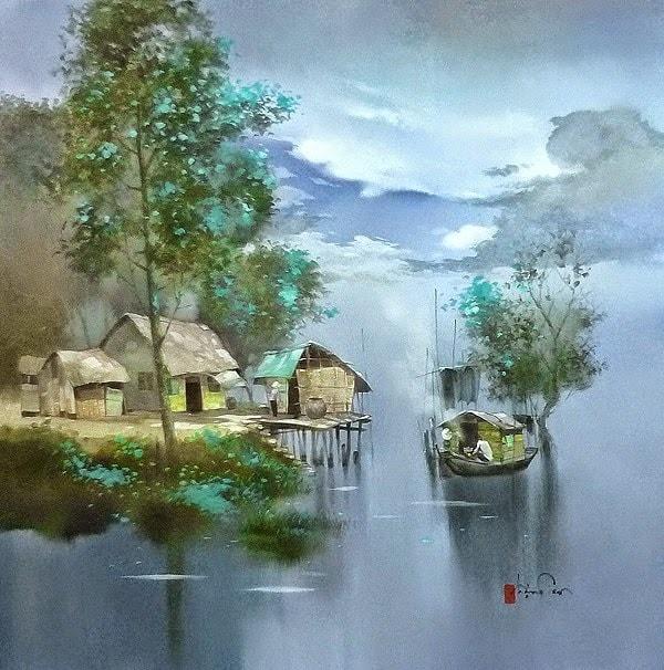Завораживает — потаенная душа Вьетнама в пейзажах художника Dang Van Can