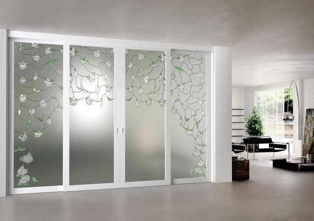 Дизайнерские стеклянные эко-двери