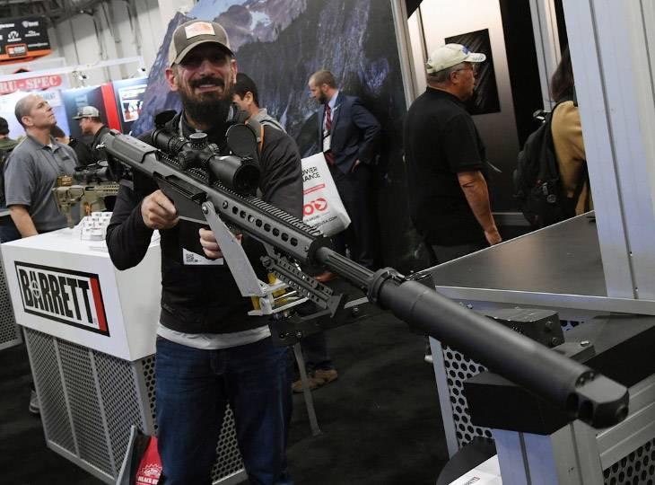 Выставка оружия в Лас-Вегасе…