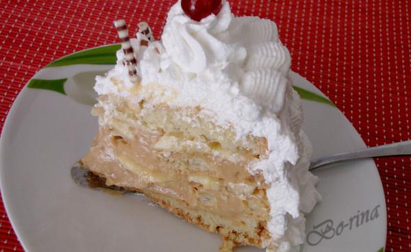"""Торт бисквитно-заварной """"Мягкая карамель"""""""