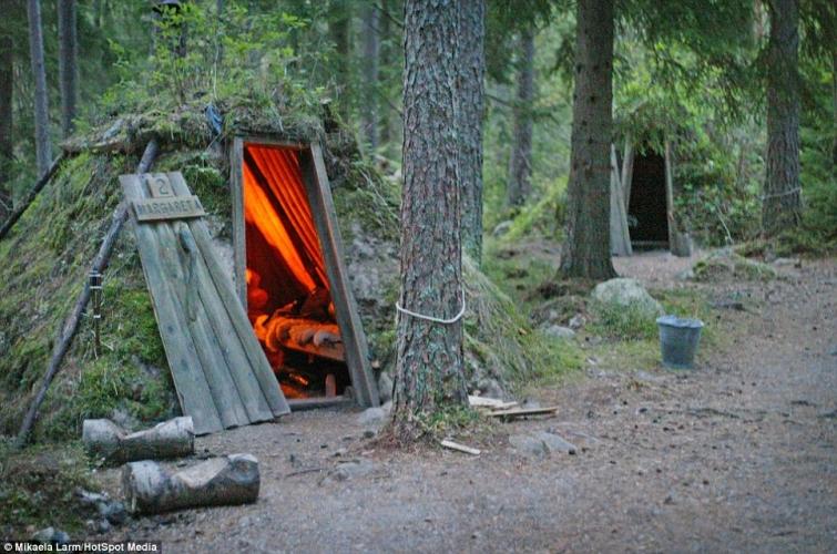 Пожить в маленьких уютных домиках посреди шведского леса
