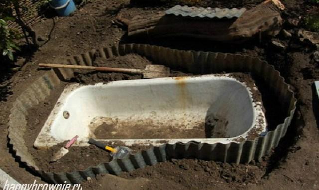 Из старой ванны ему удалось сделать невероятную красоту у себя на даче… вы только посмотрите на это!