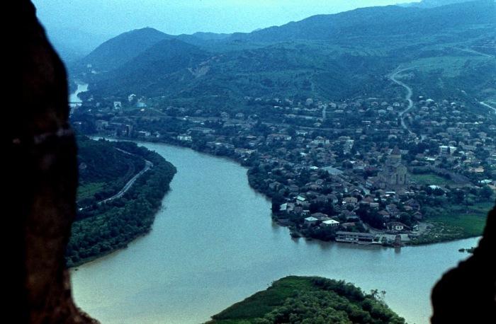 Слияние двух мощнейших и поистине красивых рек Грузии.
