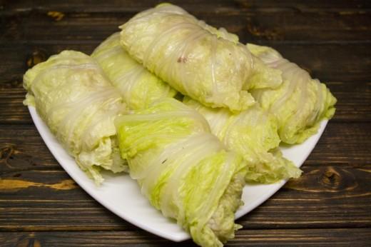Пошаговый рецепт с голубцы из пекинской капусты