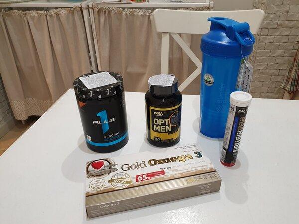 Спортивное питание, которое я буду использовать в ходе эксперимента по трансформации тела