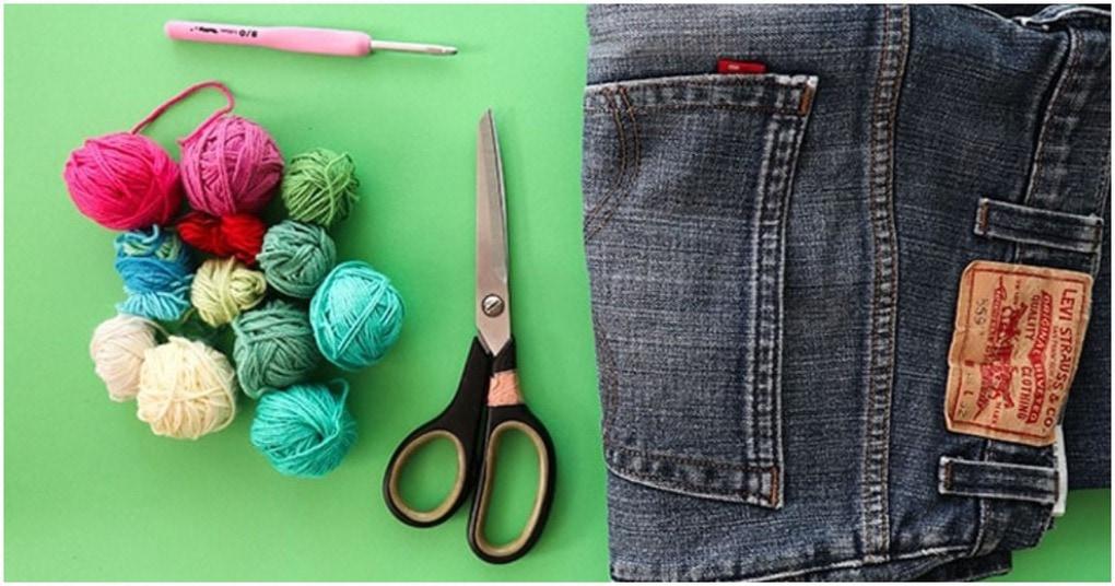 Необычное изменение старых джинсов в полезную для дома вещь