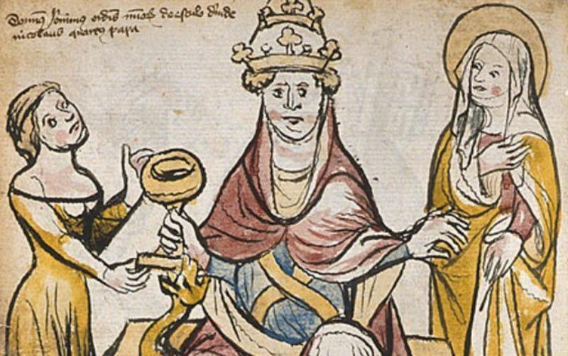Как две женщины 14 римских пап поменяли