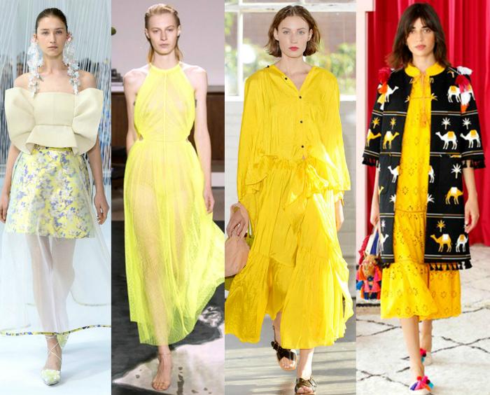Одежда желтого цвета.