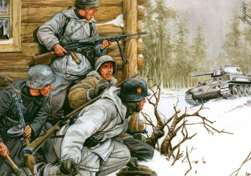 «Голубая дивизия»: испанские добровольцы против СССР. Часть 2.