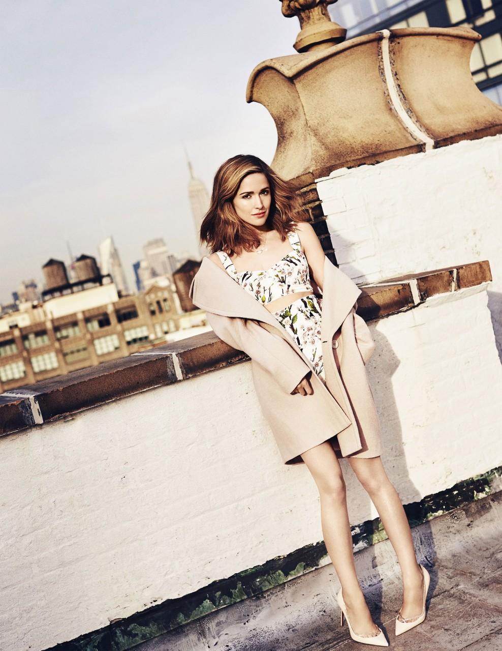 Роуз Бирн в фотосессии Бена Морриса  для журнала ELLE Australia май 2014