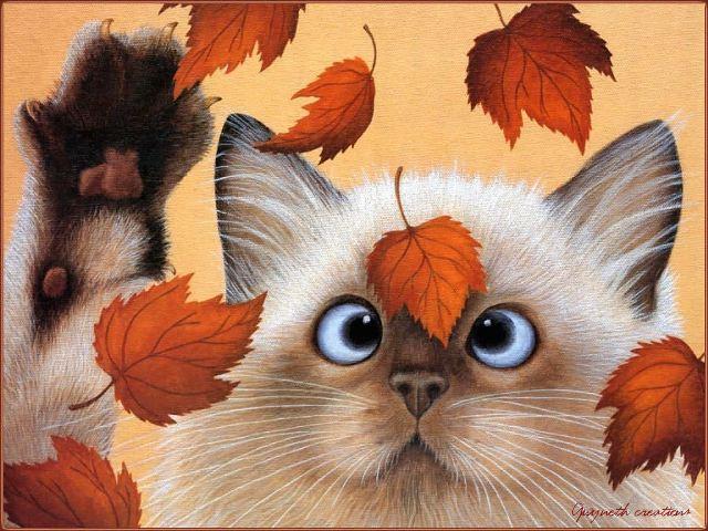 Животные и осень самое интересное в
